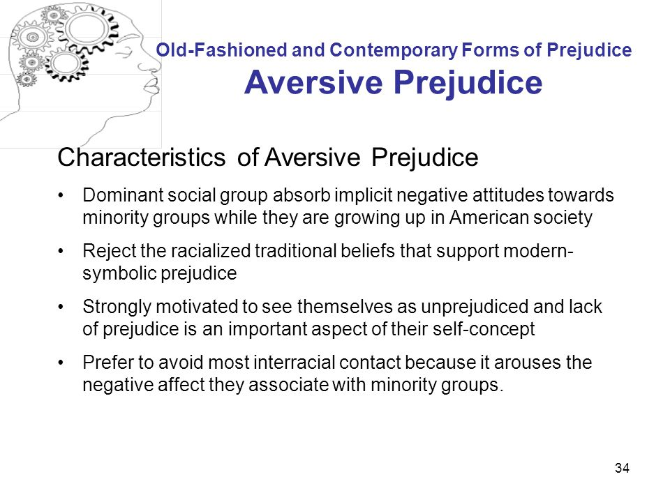 Old-Fashioned and Contemporary Forms of Prejudice Aversive Prejudice