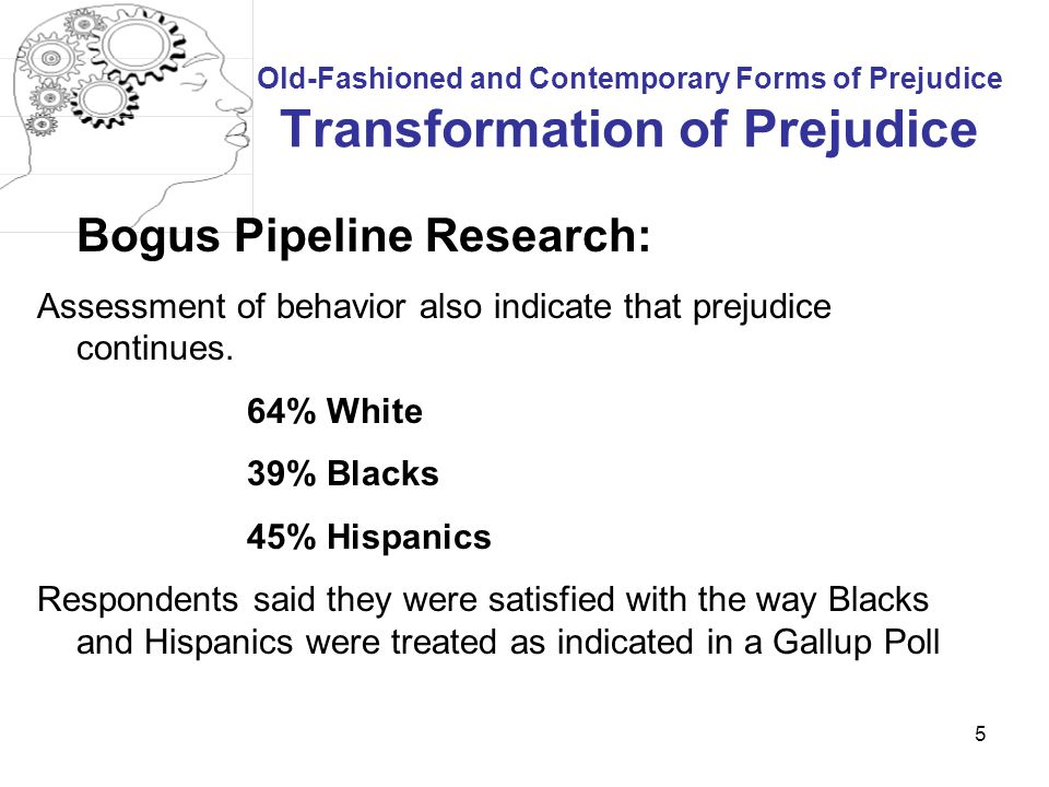 Bogus Pipeline Research:
