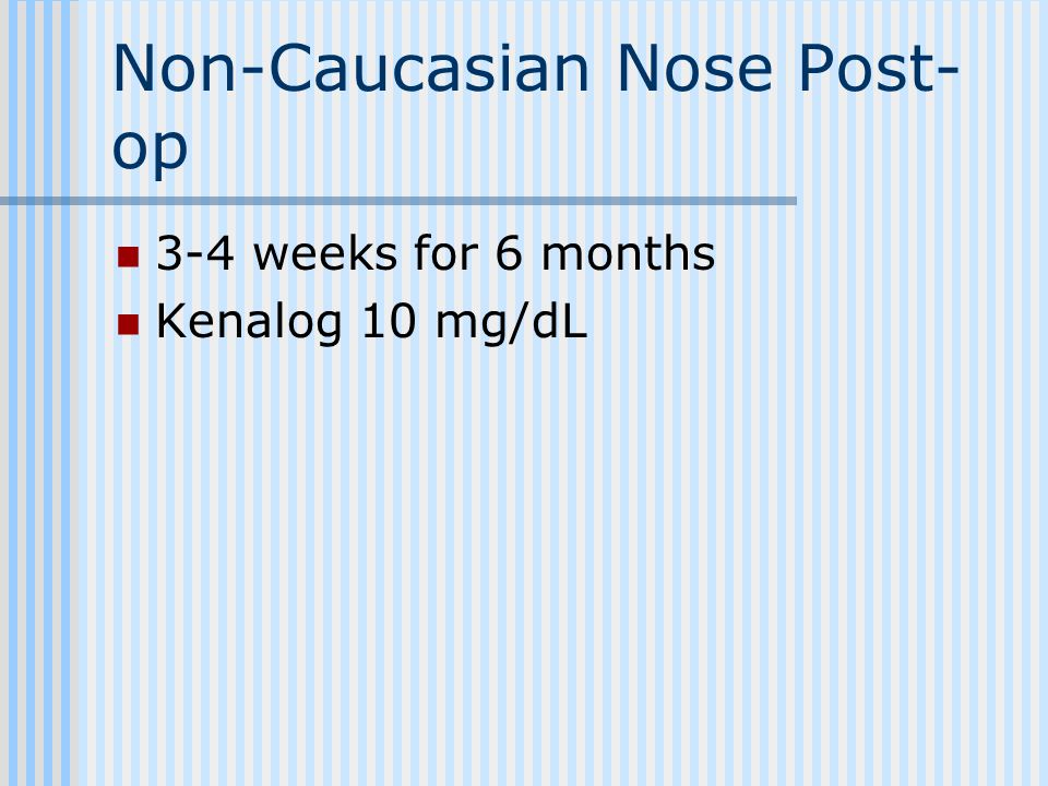 Non-Caucasian Nose Post-op