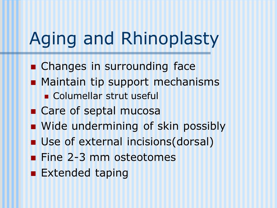Aging and Rhinoplasty Changes in surrounding face