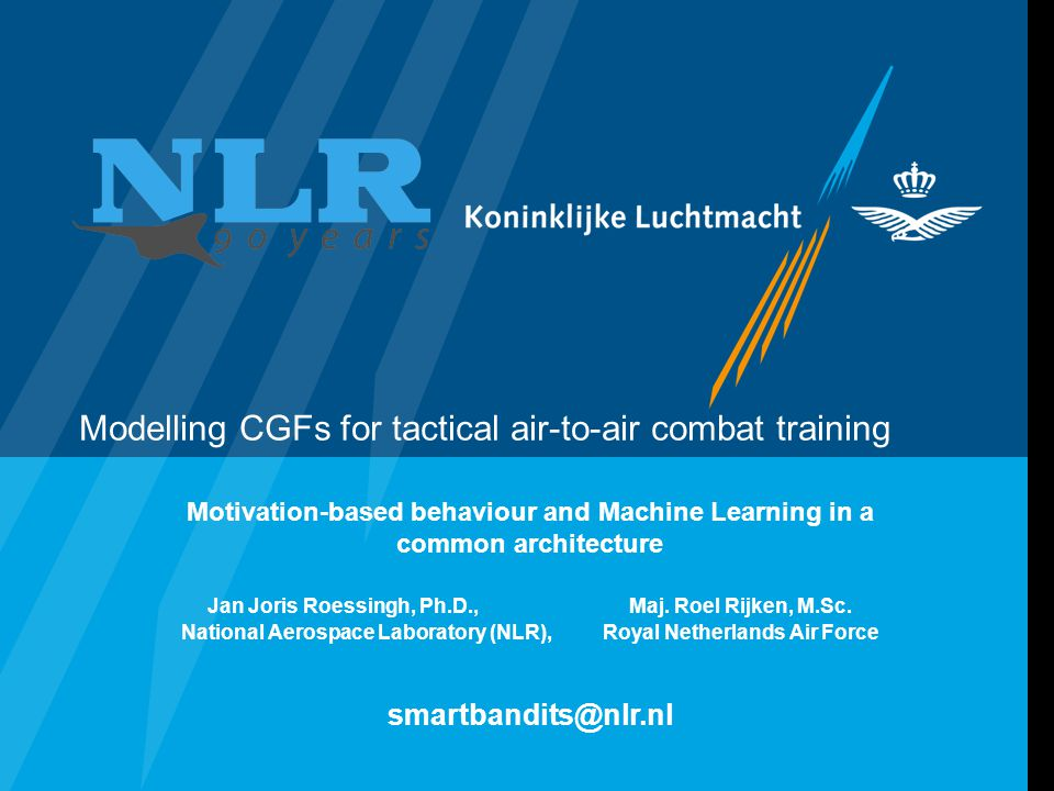 Modelling CGFs for tactical air-to-air combat training