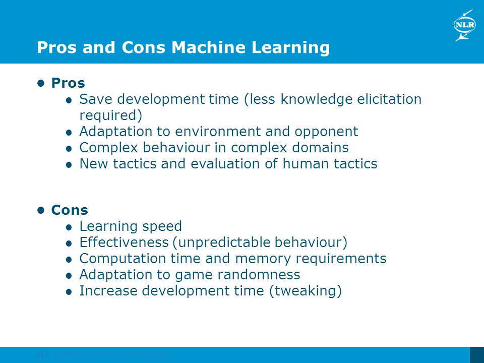 Pros and Cons Machine Learning