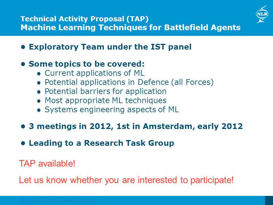 Let us know whether you are interested to participate!