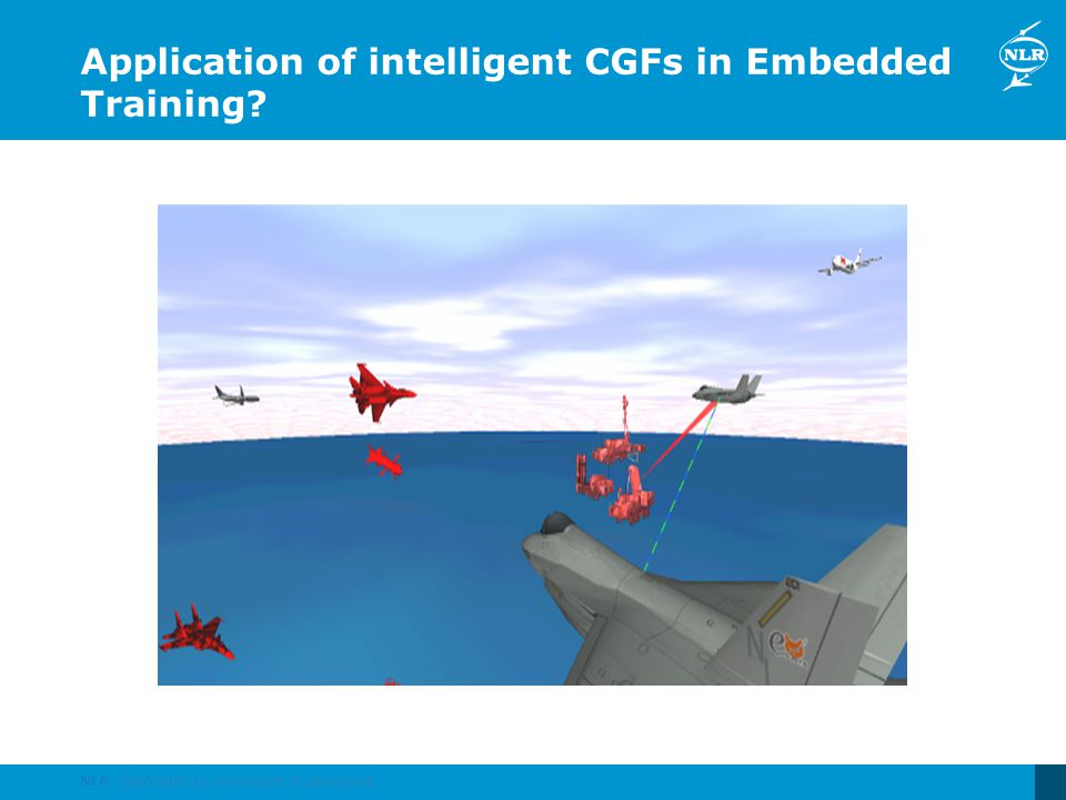 Application of intelligent CGFs in Embedded Training