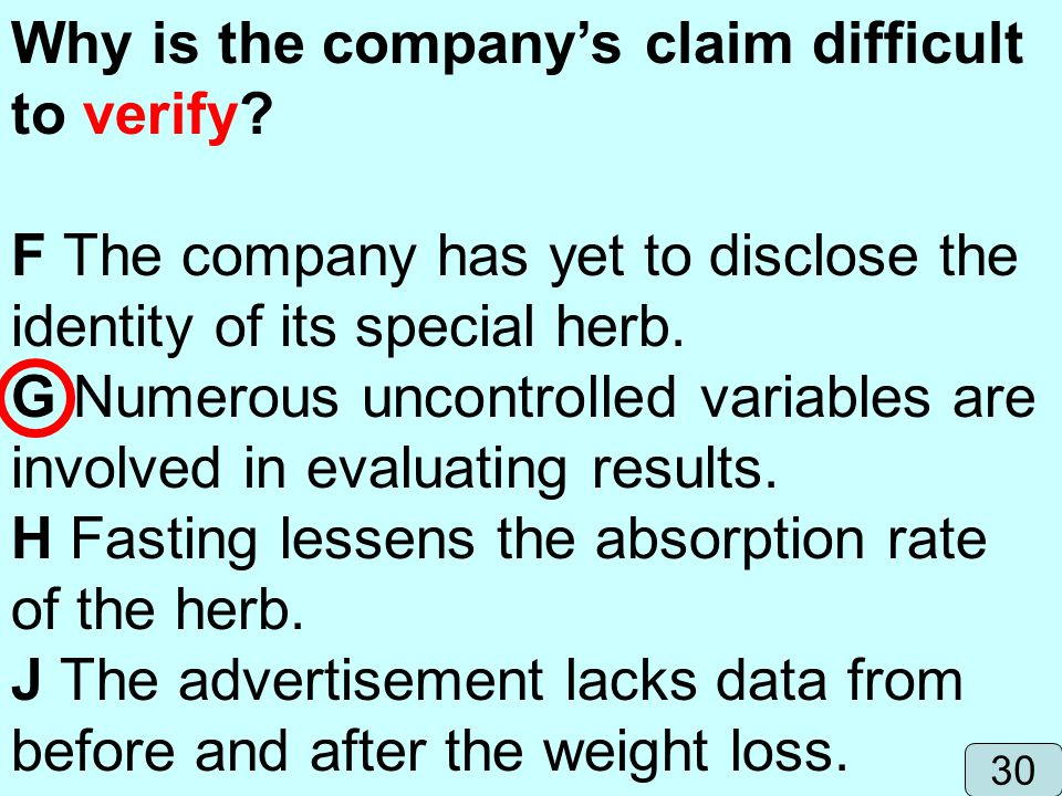 Why is the company's claim difficult to verify