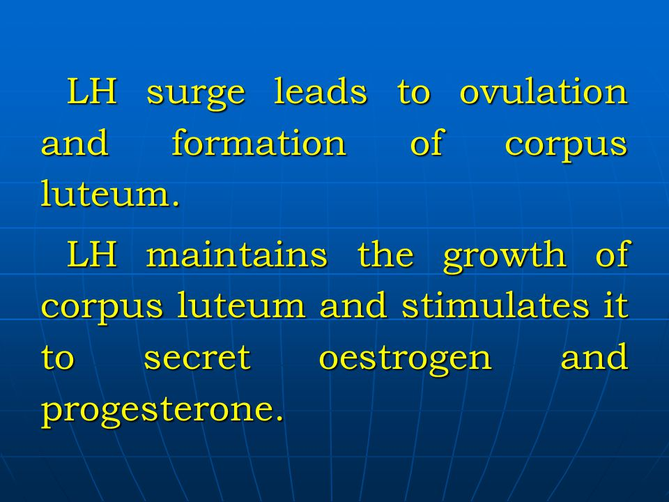 LH surge leads to ovulation and formation of corpus luteum.