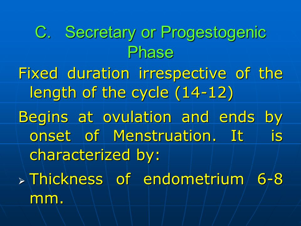 C. Secretary or Progestogenic Phase