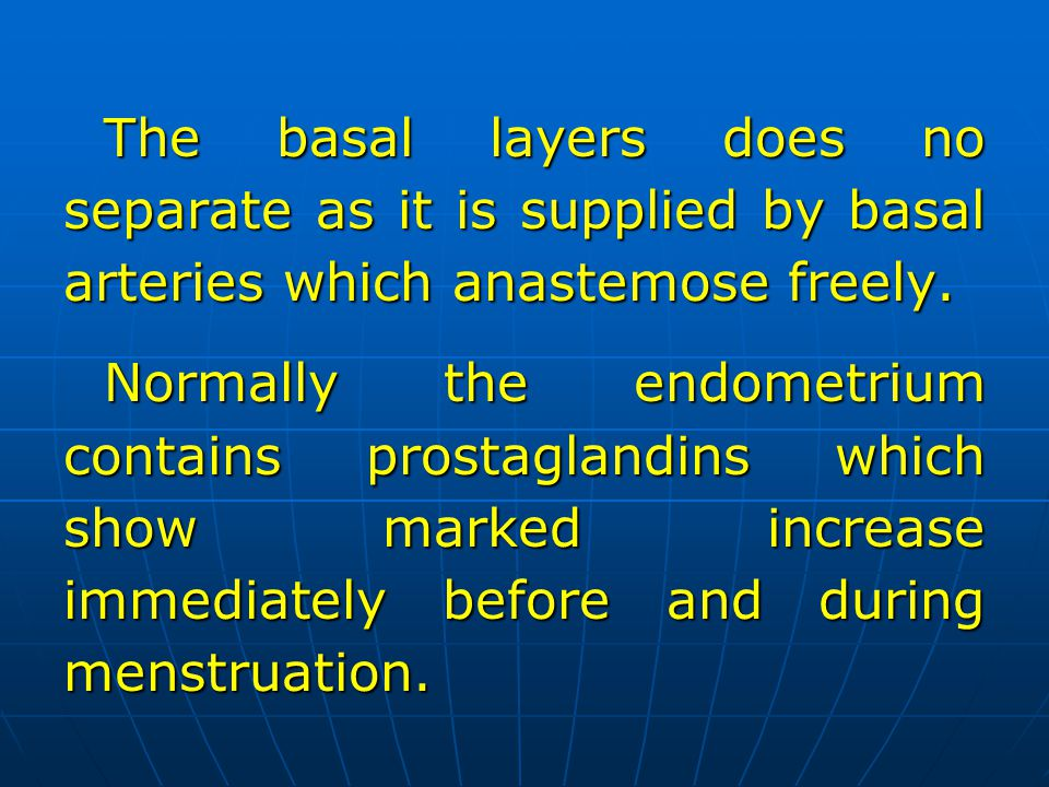 The basal layers does no separate as it is supplied by basal arteries which anastemose freely.