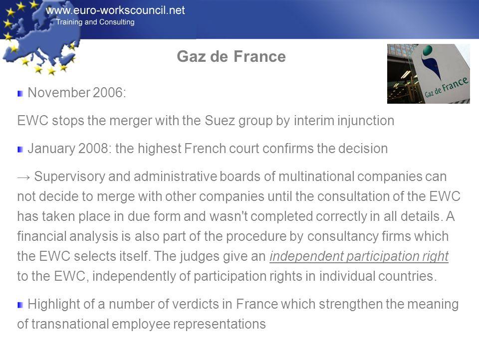 Gaz de France November 2006: