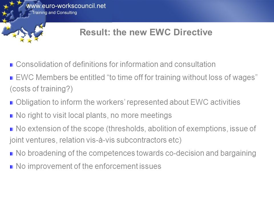 Result: the new EWC Directive