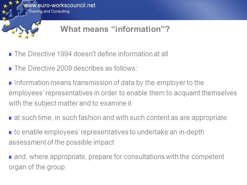What means information