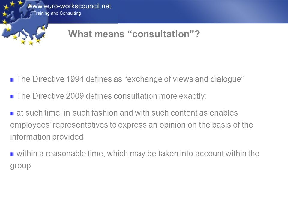 What means consultation