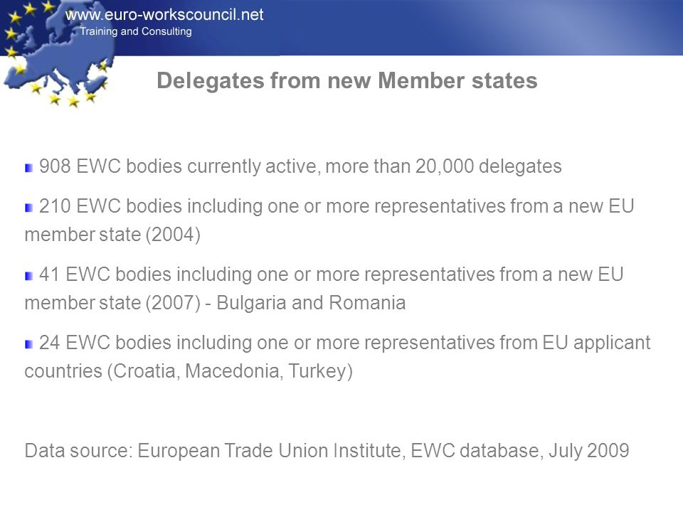 Delegates from new Member states