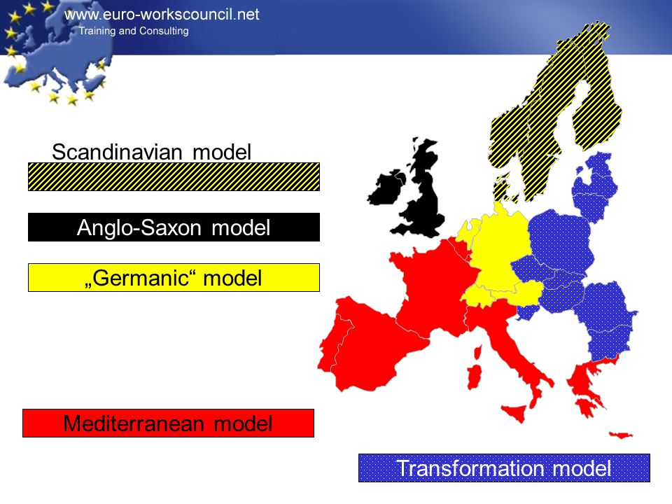 "Scandinavian model Anglo-Saxon model ""Germanic model Mediterranean model Transformation model"