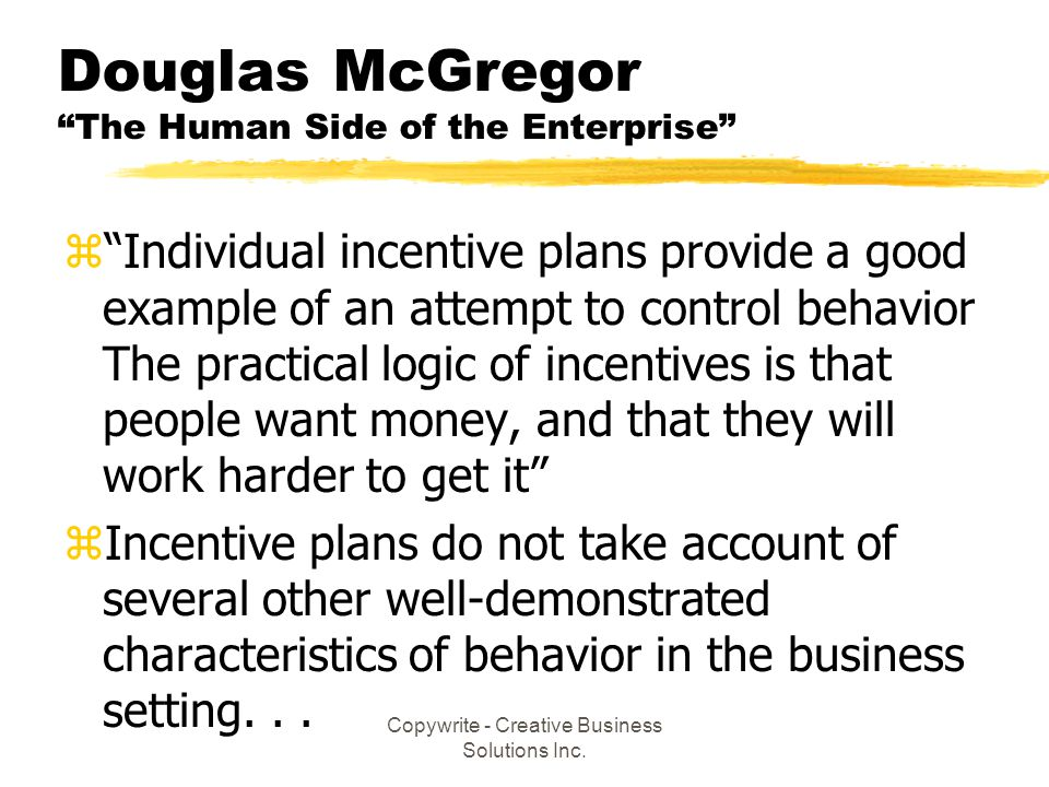 Douglas McGregor The Human Side of the Enterprise
