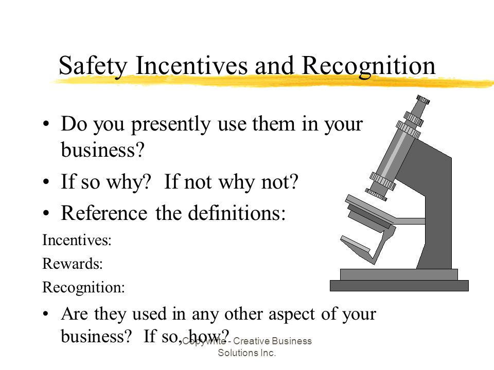 Safety Incentives and Recognition