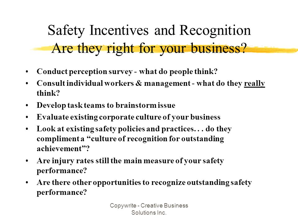 Safety Incentives and Recognition Are they right for your business