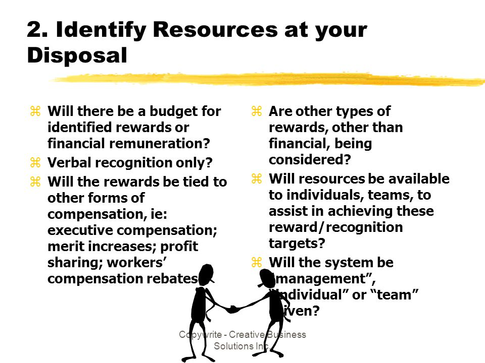 2. Identify Resources at your Disposal
