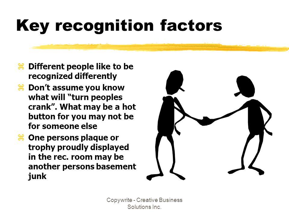 Key recognition factors