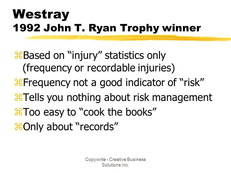 Westray 1992 John T. Ryan Trophy winner