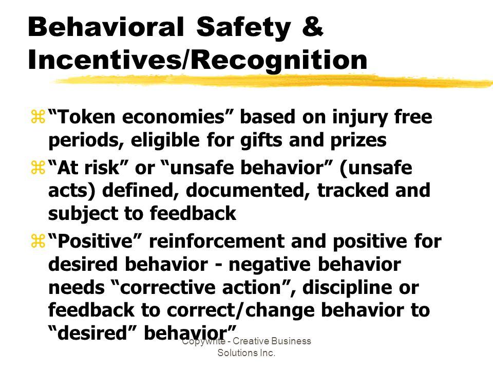 Behavioral Safety & Incentives/Recognition
