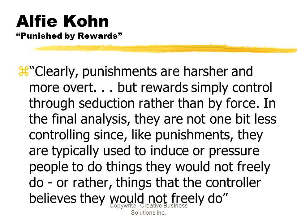 Alfie Kohn Punished by Rewards