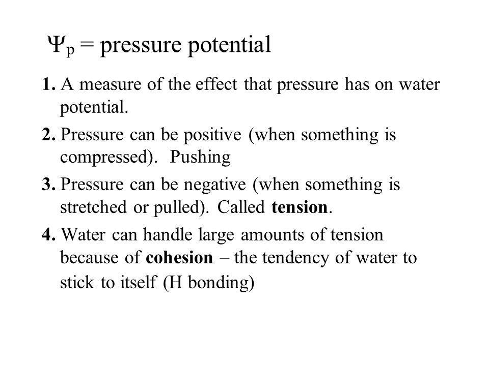 Yp = pressure potential