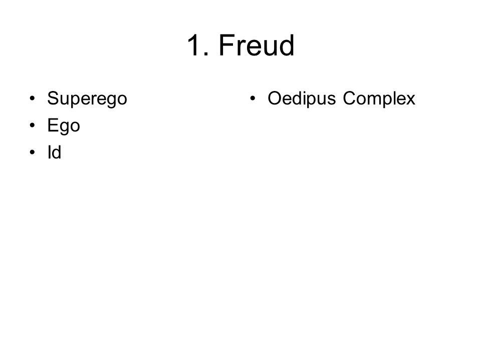 1. Freud Superego Ego Id Oedipus Complex