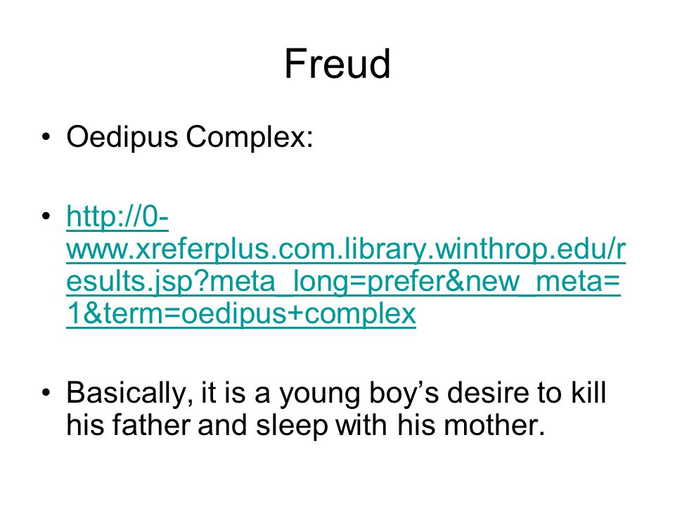 Freud Oedipus Complex: