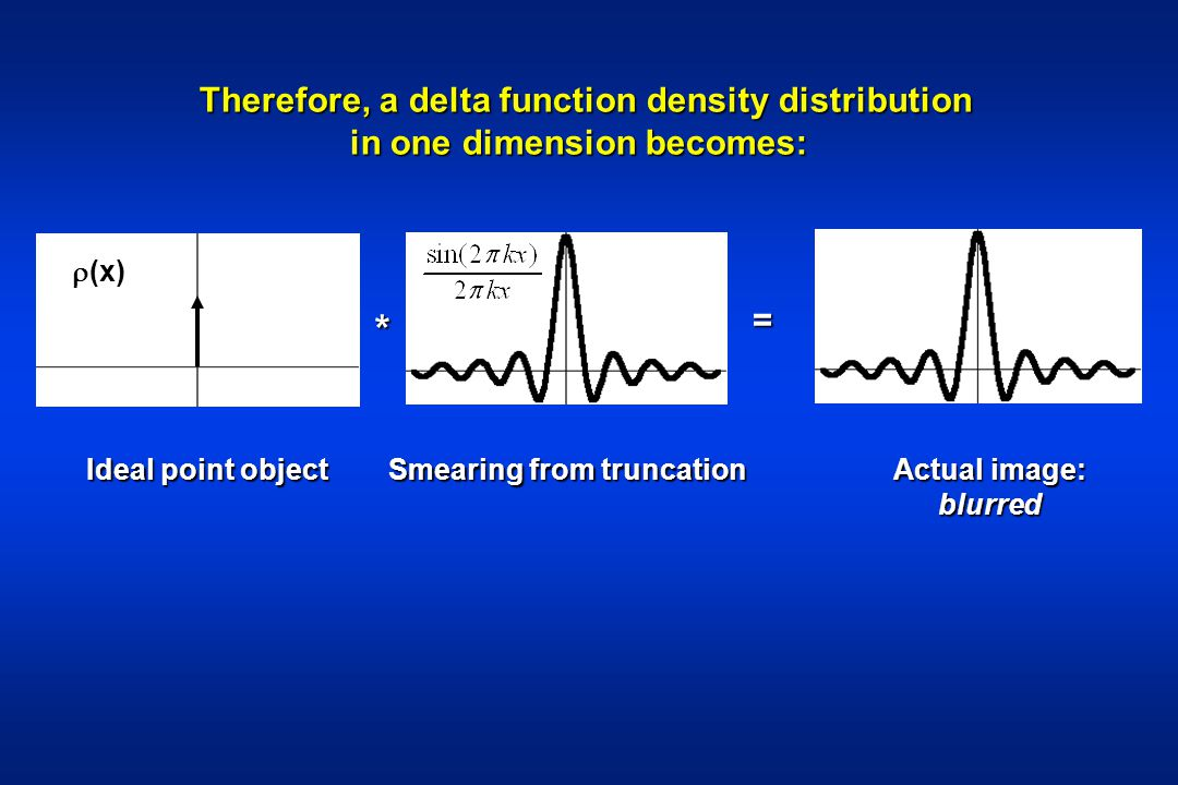 * Therefore, a delta function density distribution