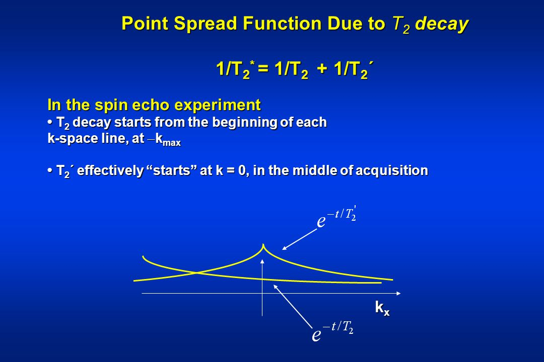 Point Spread Function Due to T2 decay