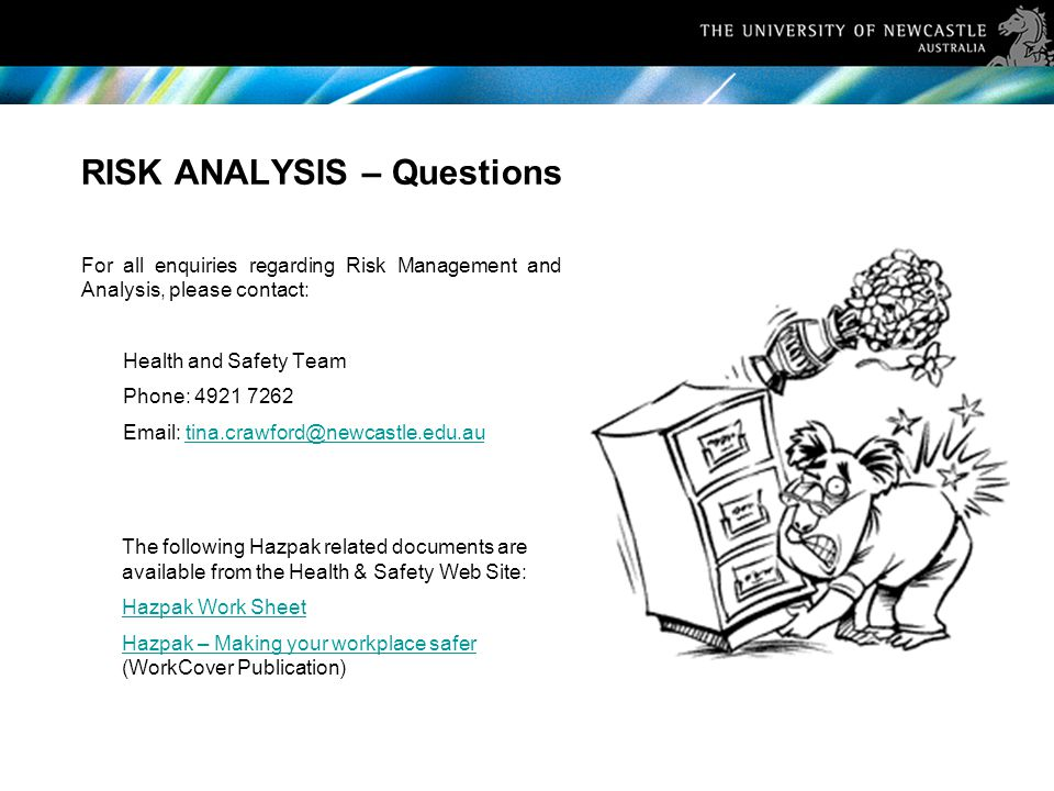 RISK ANALYSIS – Questions