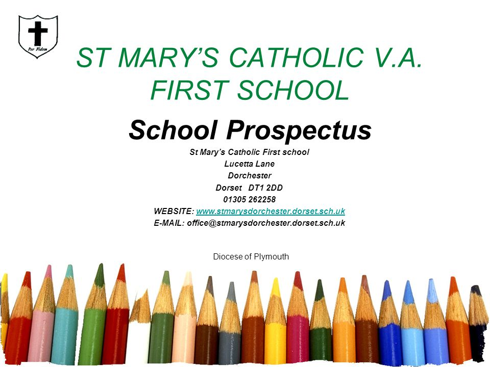 ST MARY'S CATHOLIC V.A. FIRST SCHOOL