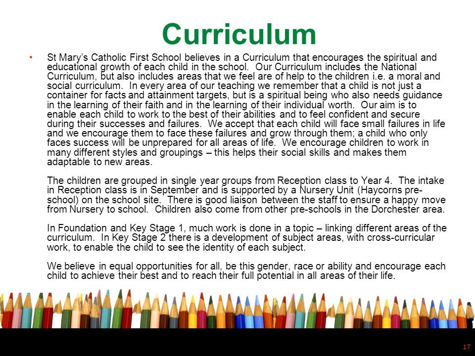 Curriculum.