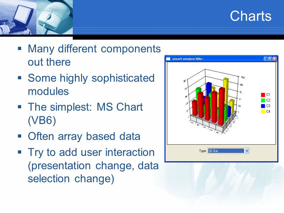 Charts Many different components out there