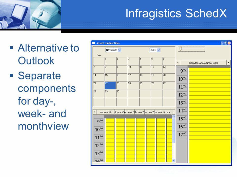 Infragistics SchedX Alternative to Outlook