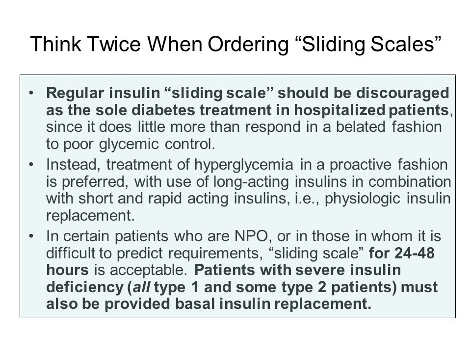 Think Twice When Ordering Sliding Scales
