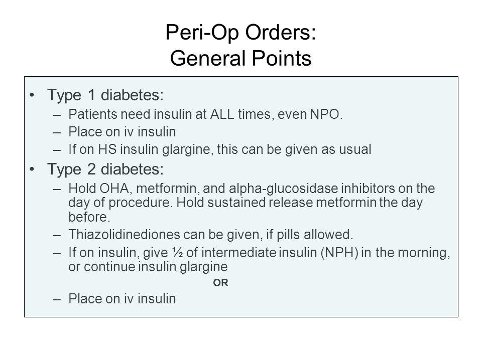 Peri-Op Orders: General Points