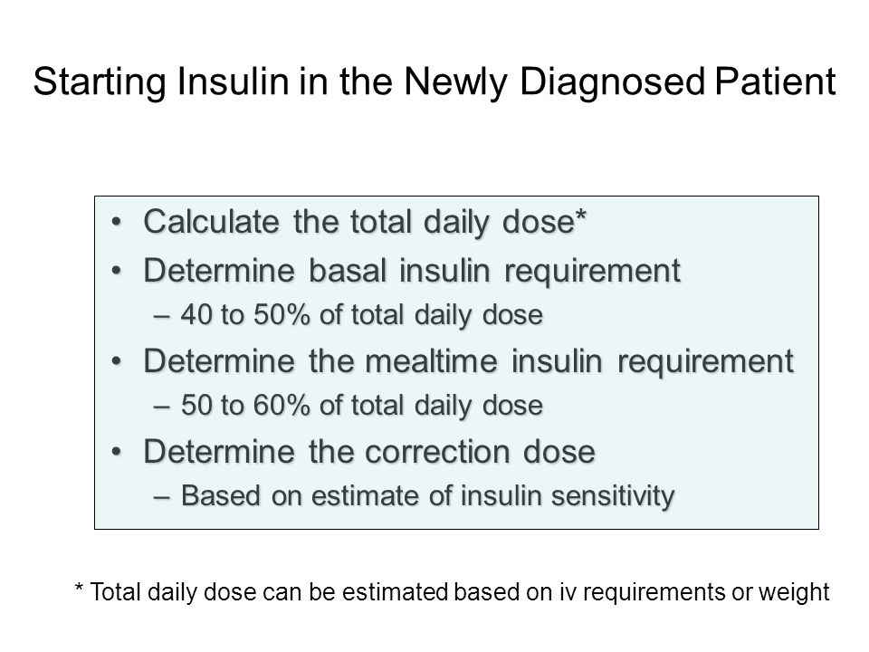 Starting Insulin in the Newly Diagnosed Patient