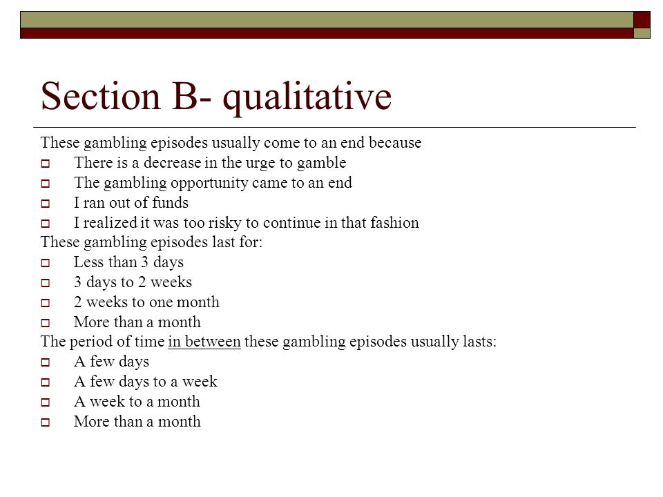 Section B- qualitative