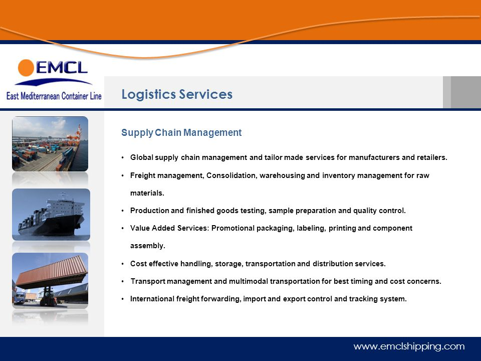 Logistics Services Supply Chain Management