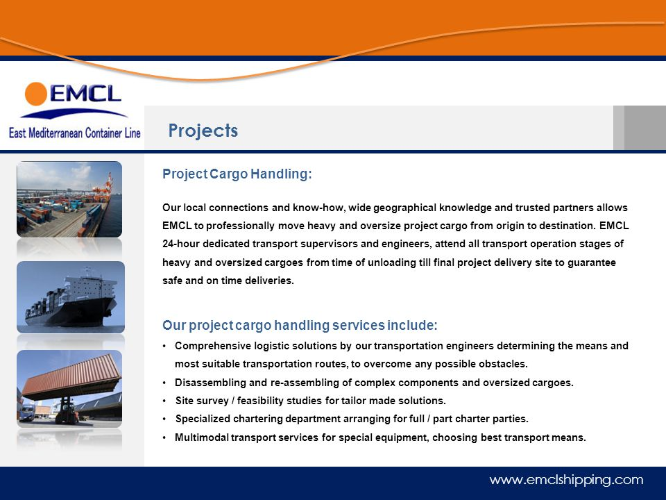 Projects Project Cargo Handling:
