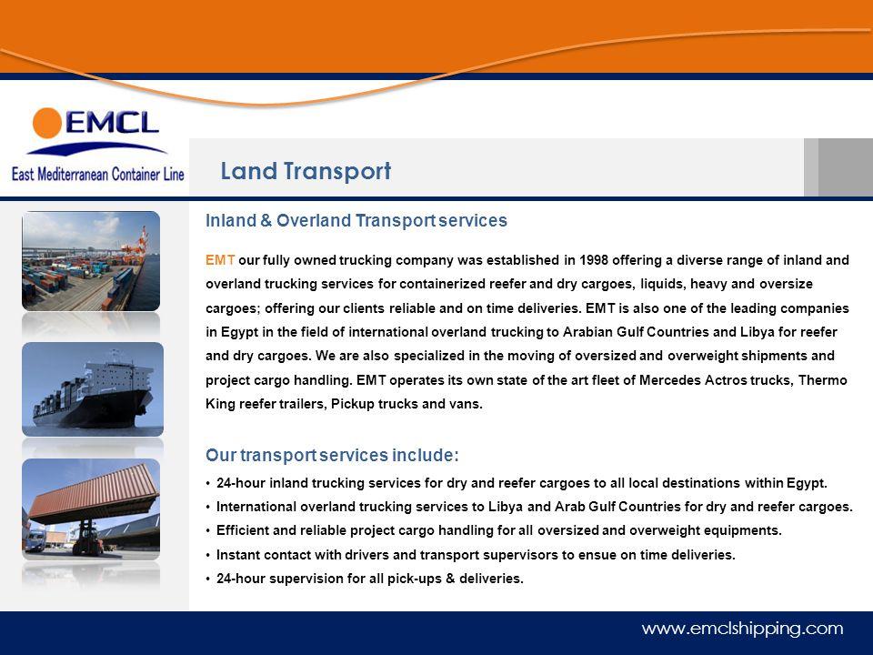 Land Transport Inland & Overland Transport services