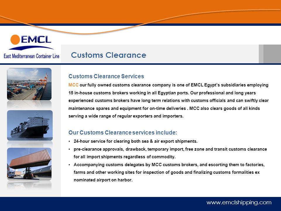 Customs Clearance Customs Clearance Services