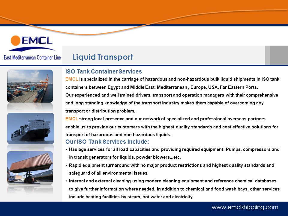 Liquid Transport ISO Tank Container Services