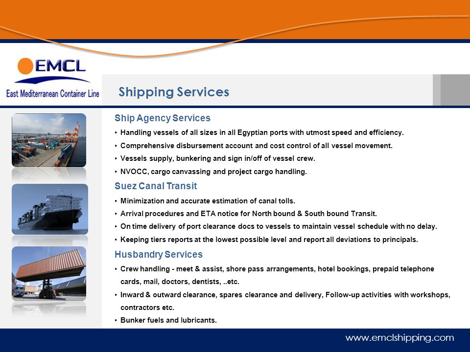Shipping Services Ship Agency Services Suez Canal Transit