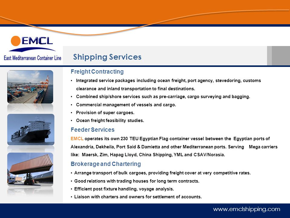 Shipping Services Freight Contracting Feeder Services