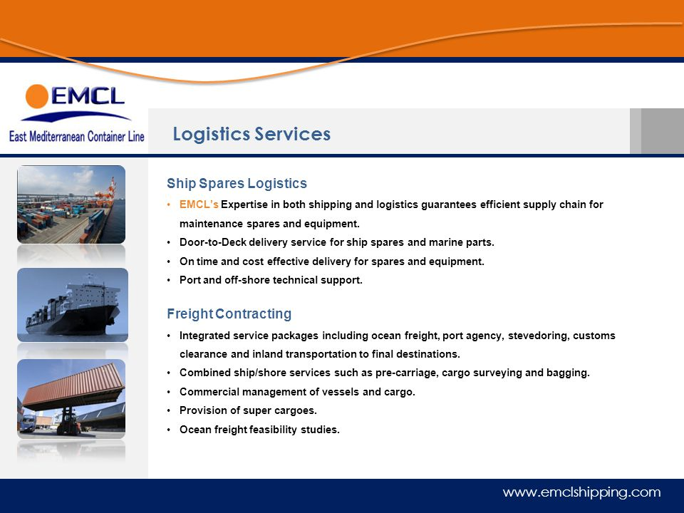 Logistics Services Ship Spares Logistics Freight Contracting