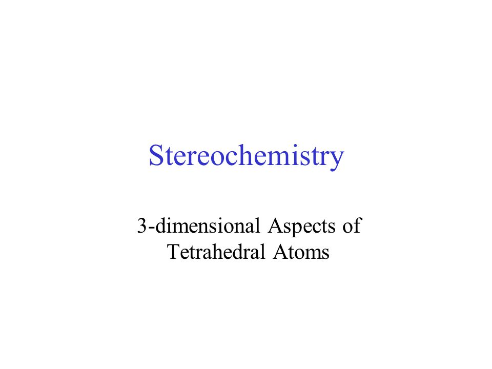 3-dimensional Aspects of Tetrahedral Atoms