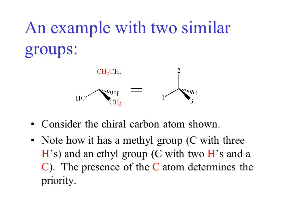 An example with two similar groups: